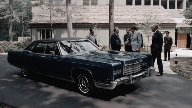 Leonid Brezhnev hoons Nixon's Continental!