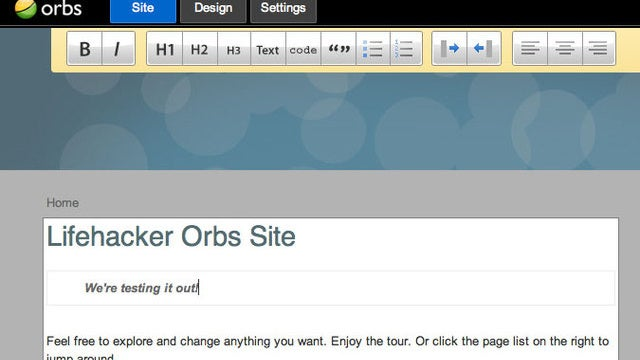 Orbs Lets You Create Easily Editable, Static Web Sites