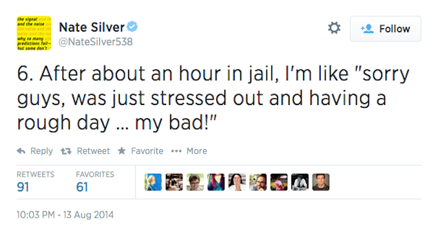 Nate Silver, Inspired by Ferguson, Tells Idiotic Arrest Story