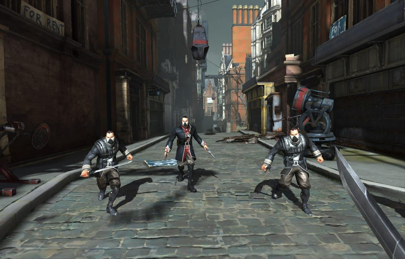 Four New Dishonored Screens Feature Sneaking, Swordplay, and... Stilts?