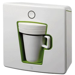 """""""Design Object"""" Single Serve Coffee Maker; Translation: It's Small and White"""