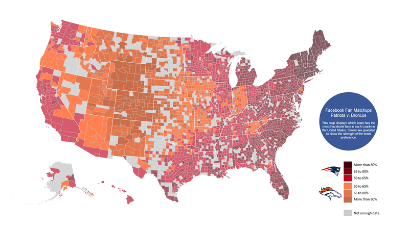 Facebook Fandom Maps Show Who America Is Rooting For This Sunday