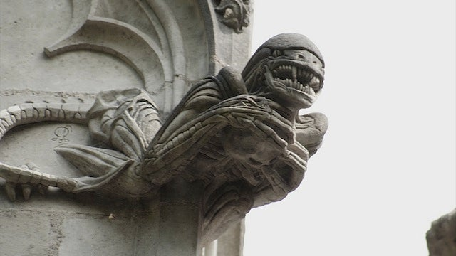 French chapel traded its gargoyles for Gizmo, Gremlins, Grendizer, and one toothy Xenomorph