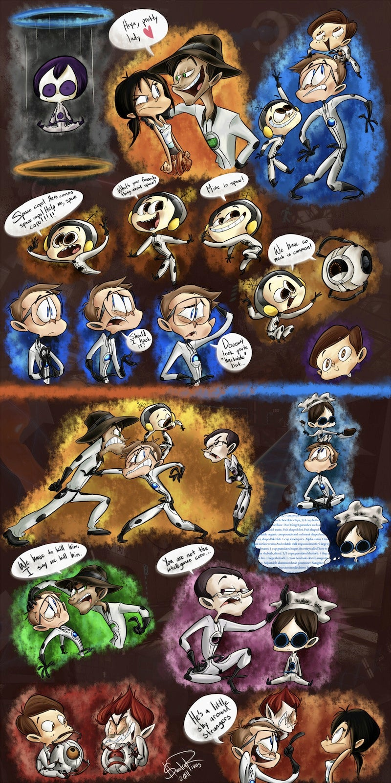 What if Portal was a Ren & Stimpy-inspired Saturday morning cartoon?