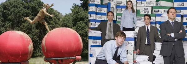 It's Giant Balls Vs. Dwight Schrute For Hearts And Minds On Super Bowl Sunday