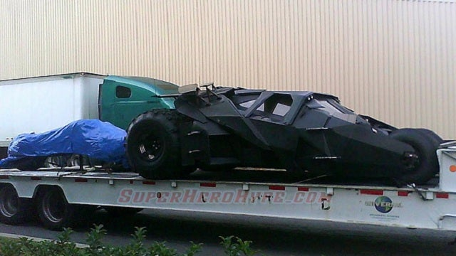 First Glimpse of the Batmobile in the Dark Knight Rises