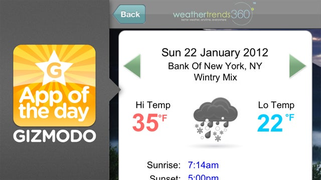 WT360 for iPhone: What's the Weather Going to Be...Next Year?