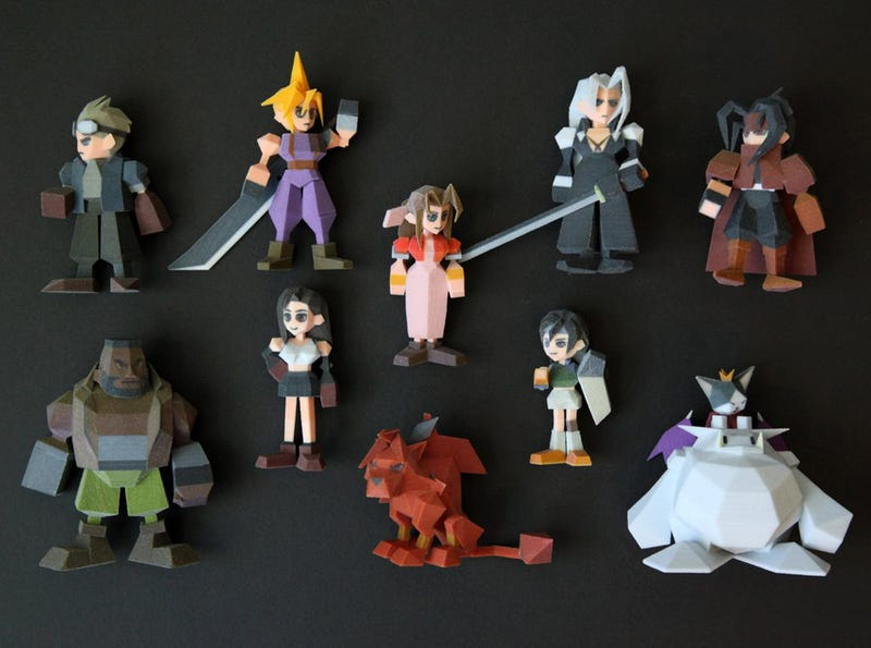 3D-Printed Final Fantasy VII Characters Look Pretty Amazing