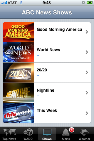ABC News Gives You Top Stories and Location-Specific Video