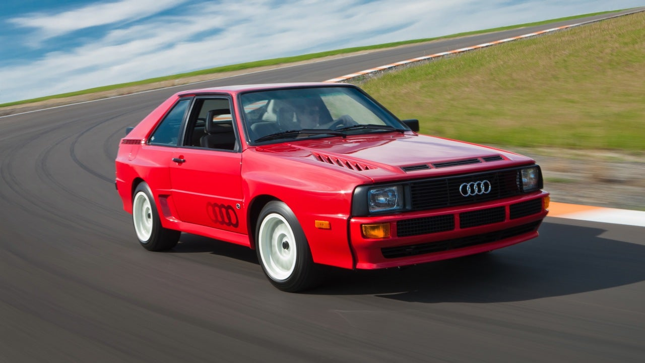 1984 audi sport quattro first drive. Black Bedroom Furniture Sets. Home Design Ideas
