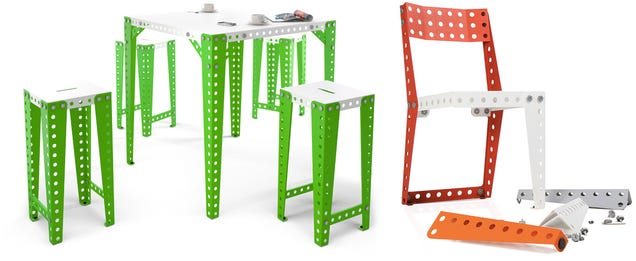 Giant Meccano Home Pieces Let You Build Whatever Furniture You Need