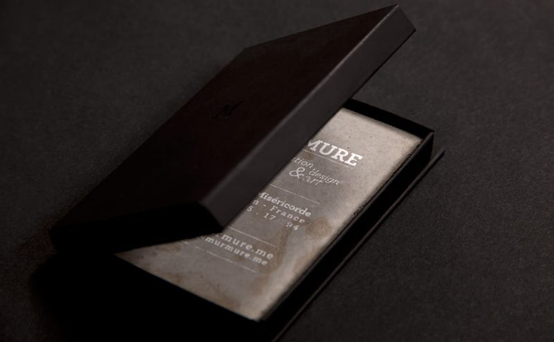 Concrete Business Cards Are Impractical and Exquisite Works of Art