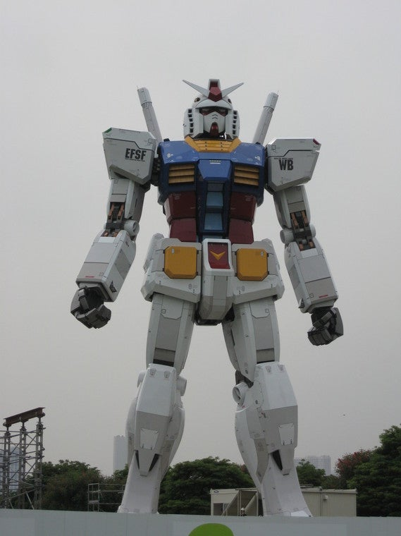 Tokyo's Life-Sized Gundam is Just About Finished