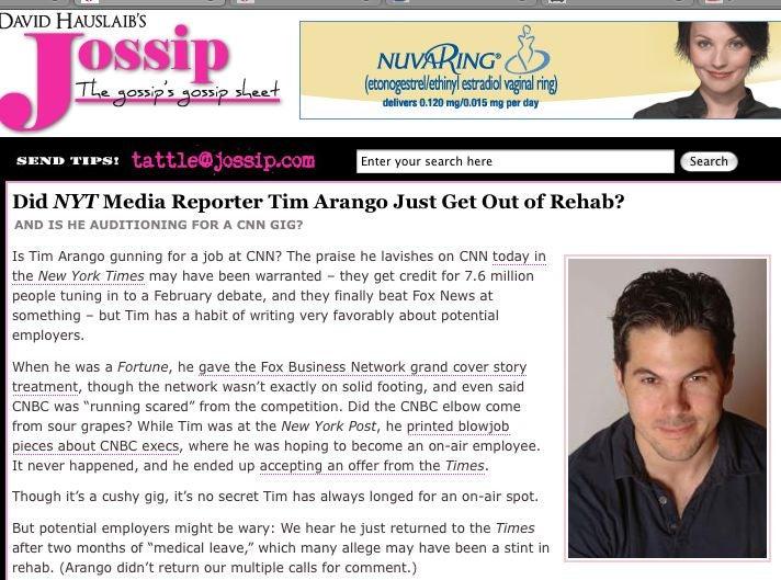 Did Fox News Smear Timesman Tim Arango?