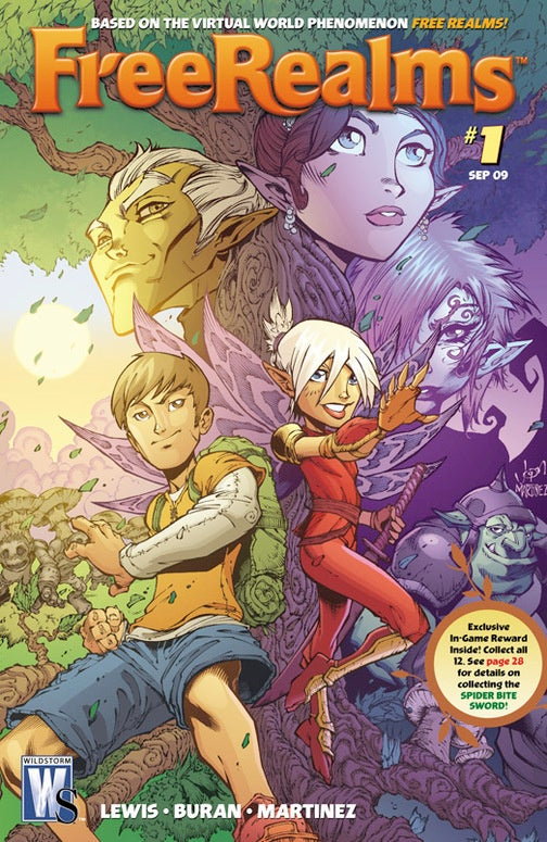 Now Free Realms Is A Comic Book