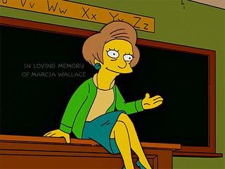 The Simpsons Gave Mrs. Krabappel a Heartbreaking Sendoff