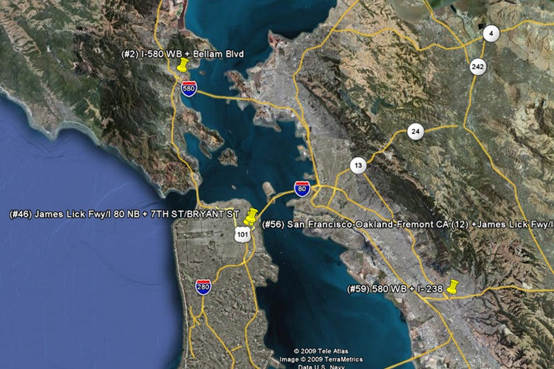 San Francisco: America's Seventh Most Traffic-Congested CIty