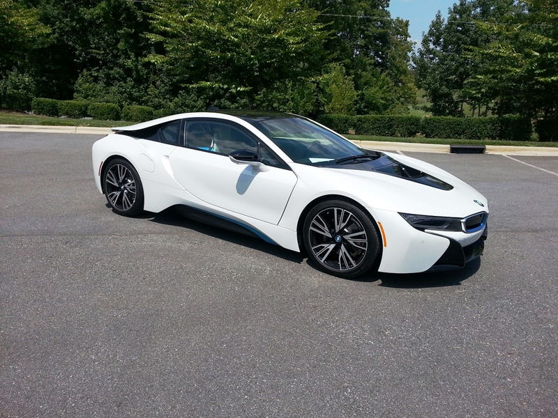 Rick Hendrick takes delivery of his TWO i8s inc. the Concours one