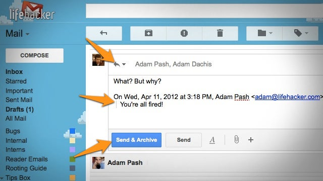 Google Graduates Send & Archive, Quote Selected Text, and Default Reply All from Labs
