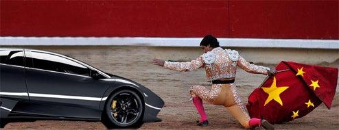 Lamborghini Heading Like A Bull Into Red China