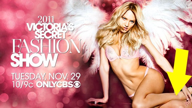 Victoria's Secret Angel Lightly Rests On Severed Limb
