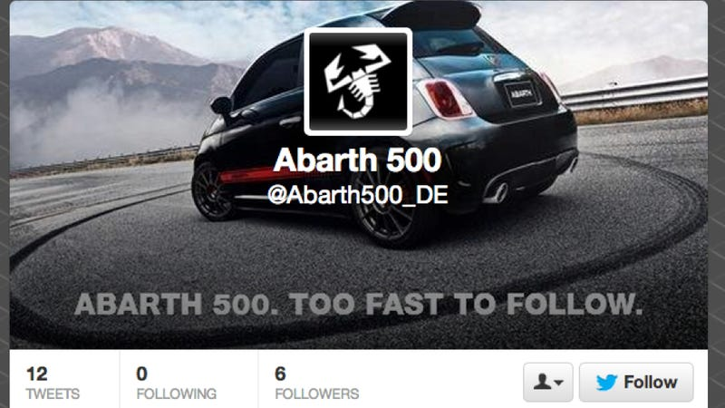 Why You Can't Follow Fiat's New Twitter Account