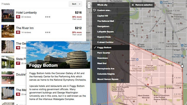 Google's Hotel and Flight Finders Now Show Neighborhood Information