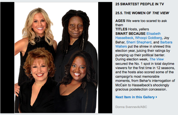 The View Ladies and the Other Smartest Dumb People In Television