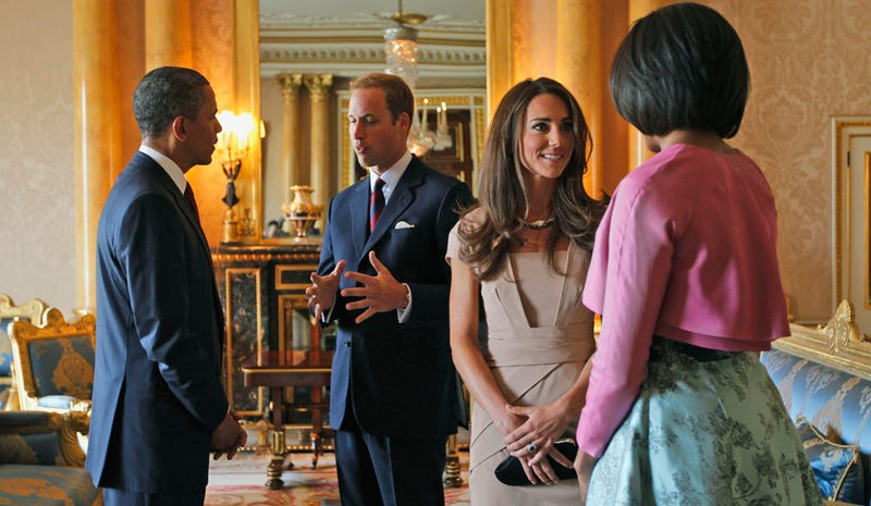 William & Kate Meet Barack & Michelle
