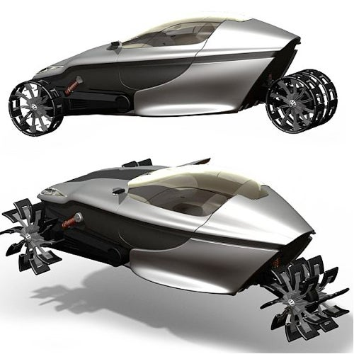 Amphibious Hybrid Gives Paddle Boating Some Much-Needed Machismo