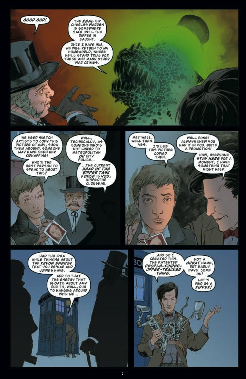 Check out a 7-page preview of IDW's Doctor Who comic: it's the 11th Doctor vs. Jack the Ripper!