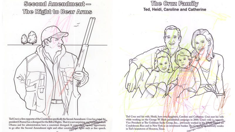 We Gave Ted Cruz's Coloring Book to a Real Toddler With Crayons