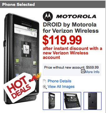 Droid Price Drops to $120