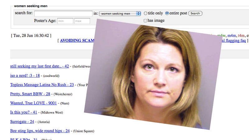 Woman Arrested for Posing as Her Husband's Ex in Sexy Craigslist Ads