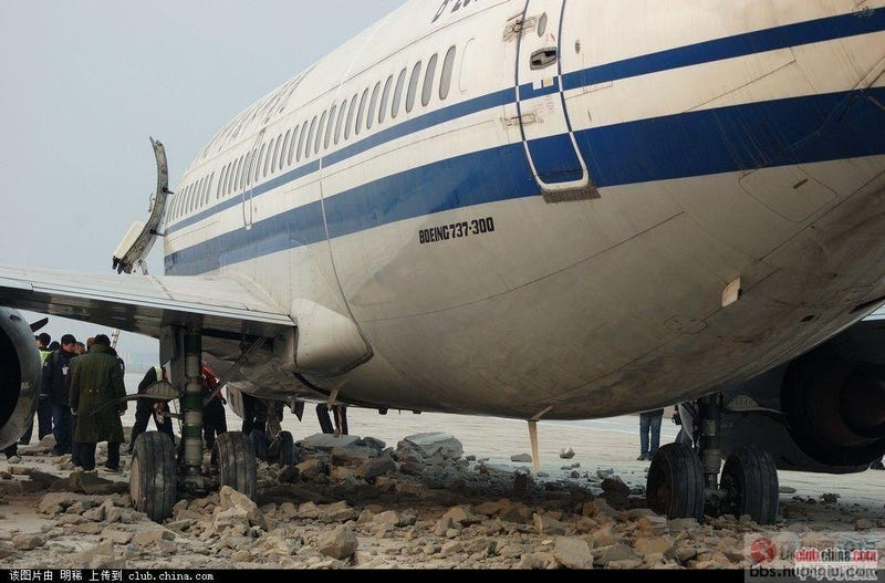 This Overrunning Boeing 737 Got Stopped Safely By Concrete