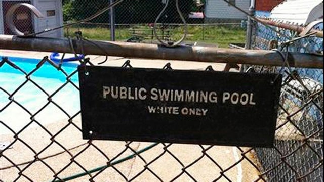 Landlord Provides Creative Excuses For 'Whites Only' Pool Sign