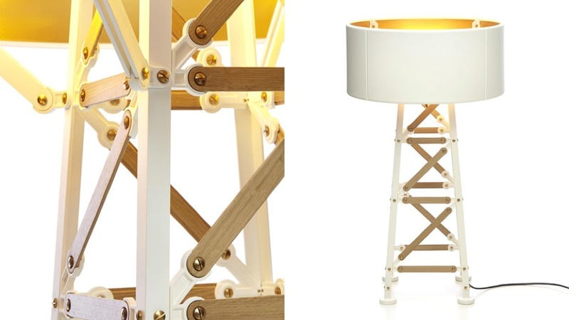 A Lamp That Looks Like It's Made From Meccano