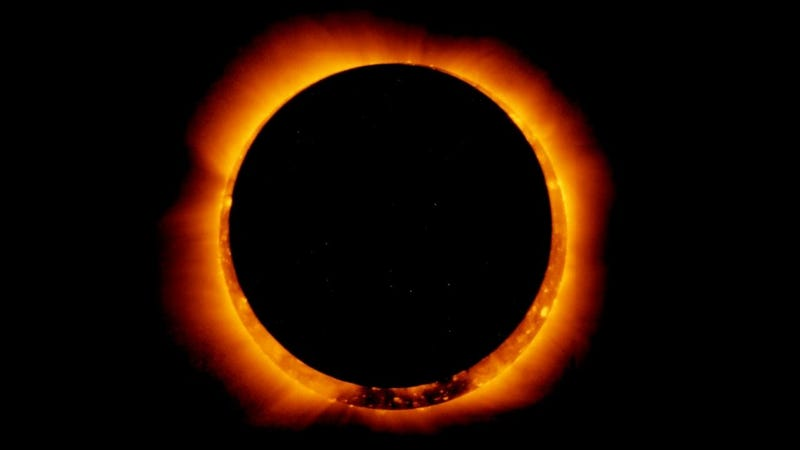 Breathtaking look at a solar eclipse in space