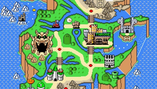 Play a Game of Mushroom Kingdoms on this Super Mario map of Westeros