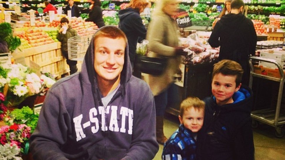 Here's Sad Rob Gronkowski In A Motorized Scooter