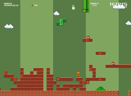 Tuper Tario Tros. Puts A Little Tetris In Your Mushroom Kingdom