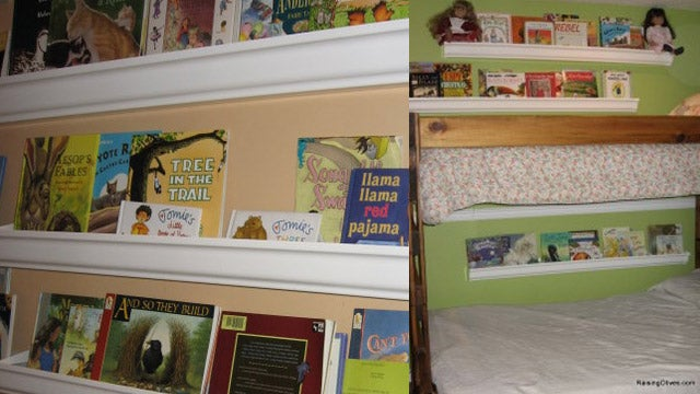 Turn Rain Gutters into Bookshelves
