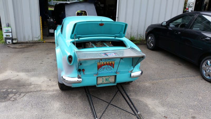 It's a Nash Metropolitan drag car!