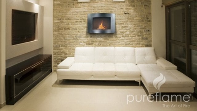 The Pureflame Is a Mobile Fireplace
