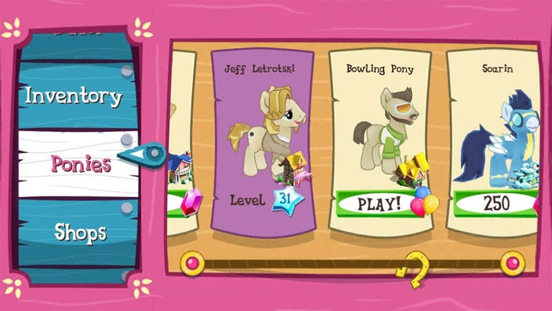 First My Little Pony Update Brings Bowling Pony, Who Doesn't Roll on Shabbos