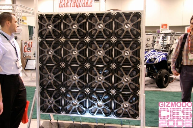 Erotic Wall of Undulating Subwoofers