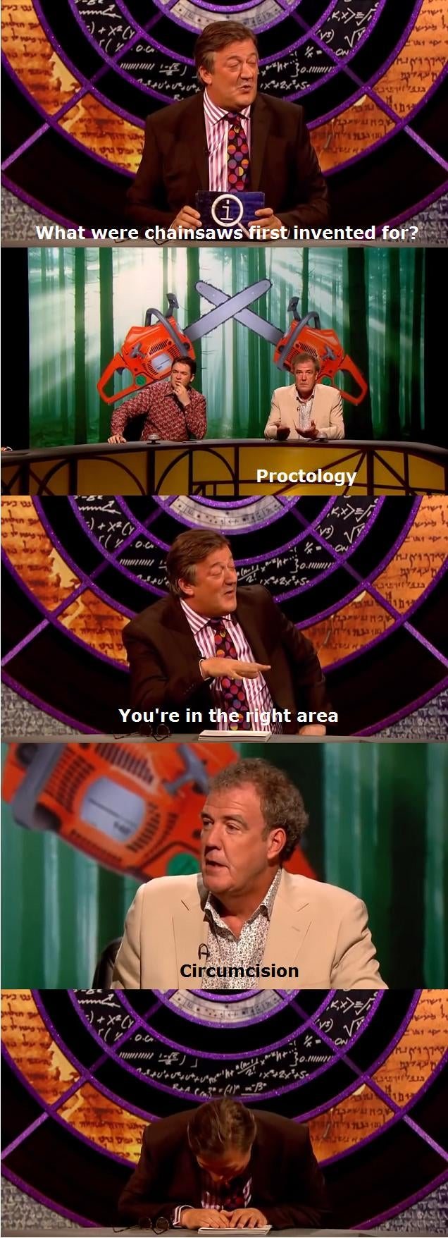Jeremy Clarkson's thoughts on chainsaws