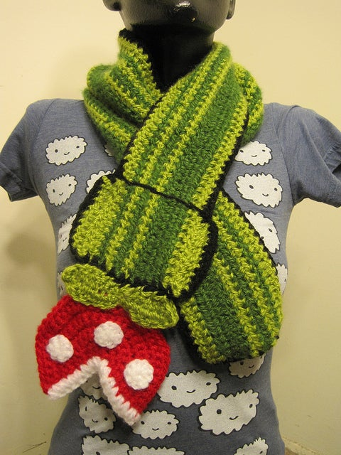 Piranha Plant Scarf Will Keep You Warmer Than A Fire Flower