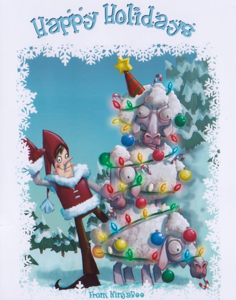 Sheep Make for Angry Christmas Trees