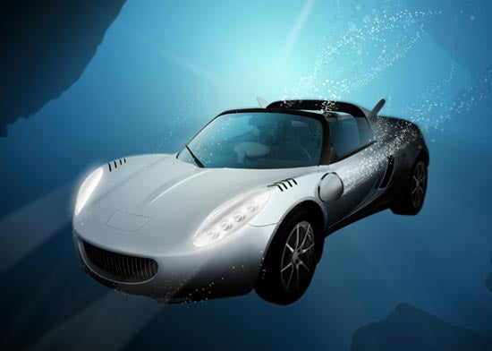 Amphibious Car Can Dive 33 Feet Underwater